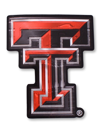 Texas Tech Red Raiders 3d Double T Decal