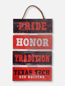 "Texas Tech Red Raiders ""Pride, Honor, Tradition"" Ladder Pallet Decor"