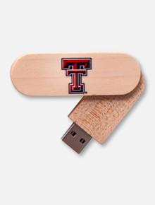 Texas Tech Red Raider Texas Tech 8GB Wood Twist USB Drive