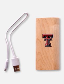 Texas Tech Red Raiders Texas Tech 4000mAh Wood Power Bank