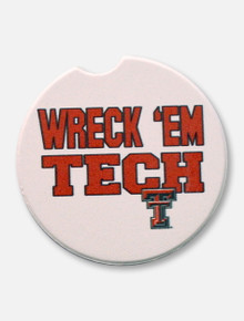 Texas Tech Red Raiders Single Pack Wreck 'Em Tech Ceramic Car Coaster