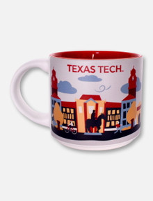 Texas Tech Red Raiders Texas Tech Campus Collage Matte Coffee Mug