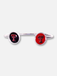 FTH Texas Tech Red Raiders Texas Tech Round Double T Logo Cuff Bracelet