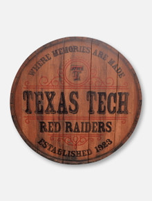 Legacy Texas Tech Red Raiders Texas Tech Barrel Top Wall Mount Decor