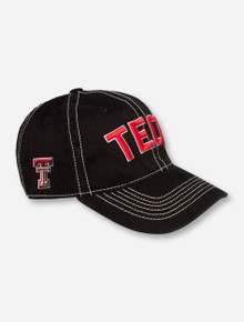 Top of the World Texas Tech Block on Black Stretch Fit Cap