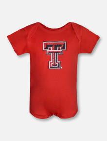 Summit Texas Tech Red Raiders Glitter Double T NFANT Onesie