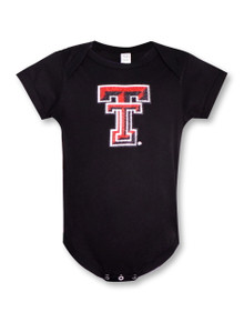 Summit Texas Tech Red Raiders Glitter Double T NFANT Onesie