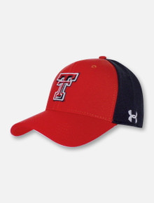 Under Armour Texas Tech Red Raiders Red Bill Double T Two Tone Cap