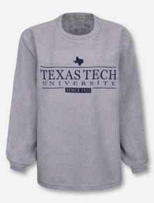 "Pressbox Texas Tech Red Raiders ""Bar School"" Corduroy Long Sleeve Tee"