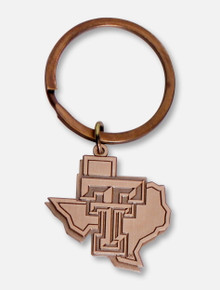 MCM Texas Tech Red Raiders Pride Logo Antique Brass Keychain