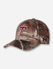 Under Armour Texas Tech Double T on RealTree Camo Stretch Fit Cap