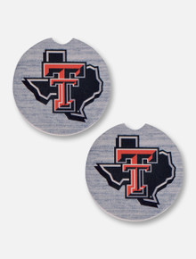 MCM Texas Tech Red Raiders Pride Logo Two Pack Ceramic Car Coasters