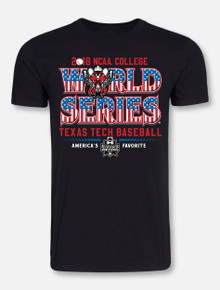 "Texas Tech Baseball ""American Favorite"" 2018 CWS Black T-shirt"