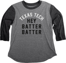 """Texas Tech Baseball """"Hey Batter Batter""""  2018 CWS Reglan 3/4 Sleeve T-shirt"""