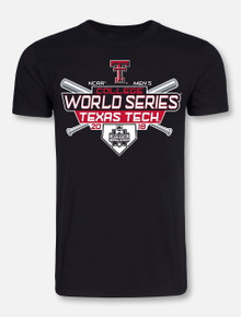 "Texas Tech Baseball ""Cross Bats"" 2018 CWS Black T-shirt"