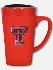 Fanatic Group Texas Tech Red Raiders Soft Touch Ceramic Mug Red Travel Mug
