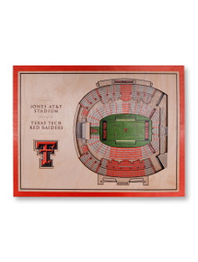 Texas Tech Red Raiders 5-Layer Stadium View Wall Art