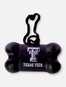 Texas Tech Red Raiders Bone Shaped Bag Dispenser