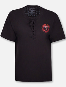 "Pressbox Texas Tech Red Raiders ""Sherry"" Lace Up Shirt"