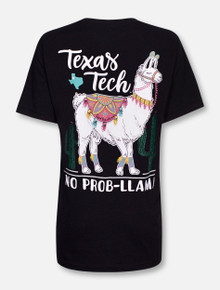 Texas Tech Red Raiders No Problem Llama T-Shirt