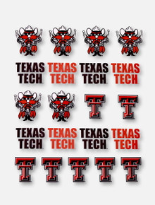 CDI Texas Tech Red Raiders Double T and Raider Red Multi-Purpose Stickers