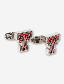 Texas Tech C-Note Red & Black Double T Stainless Steel Cuff Links