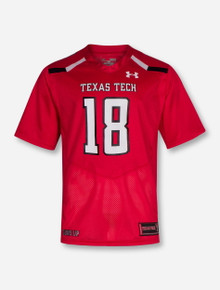 Under Armour 2018 Texas Tech Red Raiders #18 Sideline Jersey