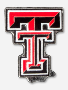 Texas Tech Game Day Red & Black Double T Pin