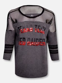 "Arena Texas Tech Red Raiders ""Fine!"" Oversized 3/4 Sleeve T-Shirt"
