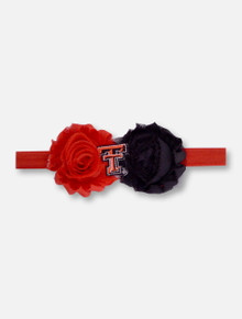 Texas Tech Red Raiders UnFRAY gettable Flower Baby Headband