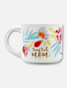 Texas Tech Red Raiders Watercolor Floral Coffee Mug