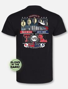 "Texas Tech Red Raiders 2018 Texas Tech VS Ole Miss ""Rebels Problem"" Black Gameday T-Shirt"
