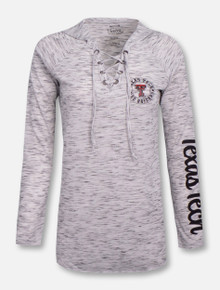 "Pressbox Texas Tech Red Raiders ""Katie"" Long Sleeve Hooded Lace Shirt"