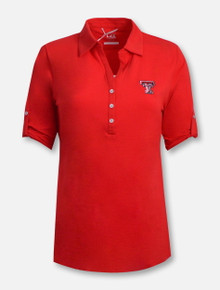 "Cutter and Buck Texas Tech Red Raiders ""Thrive"" 3/4 Sleeve Polo"