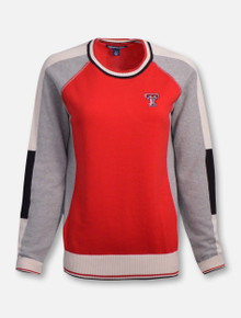 "Cutter and Buck Texas Tech Red Raiders ""Stride"" Colorblock Sweater"