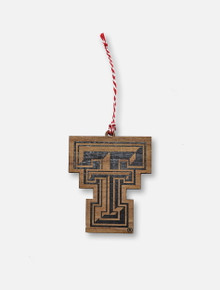Texas Tech Red Raiders Double T Wooden Ornament