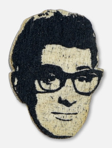 Texas Tech Red Raiders Buddy Holly Wooden Lapel Pin