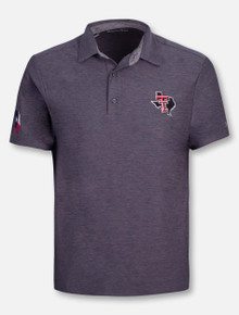 Under Armour Texas Tech Red Raiders Playoff Tonal Heather Pride Polo