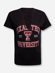 "Texas Tech Red Raiders  ZooZatz ""Comeback"" V-Neck Fashion Top T-Shirt"