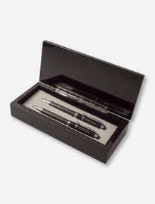 Texas Tech Lacquered Carbon Fiber Gift Box with Carbon Fiber Pen Sets