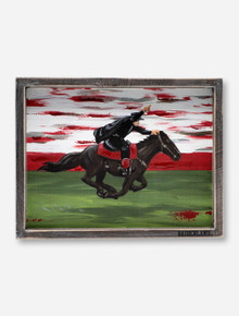 Glory Haus Texas Tech Red Raiders Masked Rider on Horse Framed Wall Decor