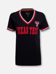 Texas Tech Red Raiders Flocked V-Neck T-shirt