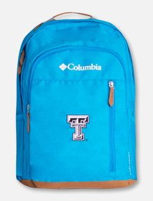 "Columbia Texas Tech ""Aspen Trail"" Black and White Double T Backpack"