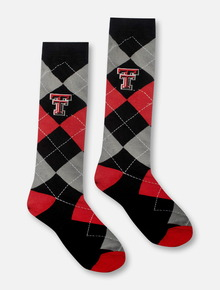Texas Tech Red Raiders Double T Checkered Crew Socks