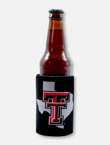 Texas Tech Red Raiders Pride Logo with Raider Red Mustache Can Cooler
