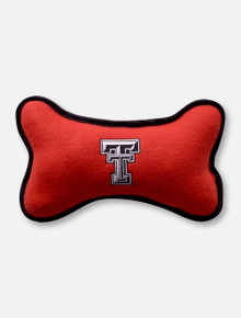 Fleece Texas Tech Patterned Large Black & Red Dog Toy