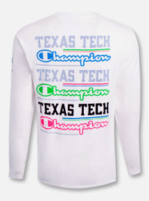 "Champion Texas Tech Red Raiders ""Cotton Candy"" Long Sleeve Shirt"