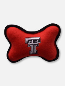 Fleece Texas Tech Patterned Small Black & Red Dog Toy