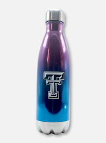 """Texas Tech Red Raiders Black and White Double T """"Force"""" Metalic Ombre Water Bottle"""