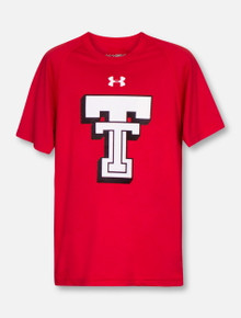 Under Armour Texas Tech Red Raiders Throwback Black and White Double T YOUTH T-Shirt